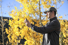 Tourist Aspen Selfie Stock Photography