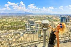 Free Tourist At Las Vegas Top View Stock Photo - 138350720