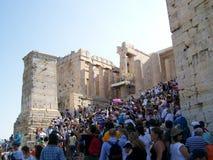 Tourist in Athen Lizenzfreie Stockfotos