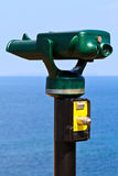 Tourist Attraction Binoculars. (pointing towards the Ocean Royalty Free Stock Photography