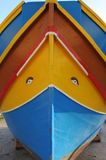 Tourist attraction: the colourfull boats in the fisher-harbour f stock photos
