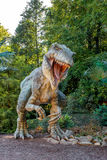 Vyskov, Czech Republic - 19.8. 2012 -  tourist attraction - realistic model of big tyranosaurus rex in jungle Stock Photos
