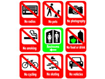 Tourist attraction rules Royalty Free Stock Images