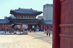 Gyeongbokgung Palace of the Joseon dynasty in Seoul, South Korea. Stock Image