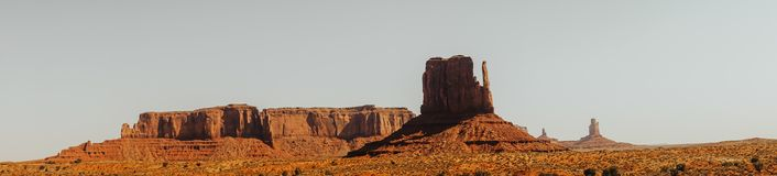Natural sights of the USA. Monument Valley in Utah and Arizona stock images