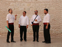 Tourist Attraction In Split, Croatia / Klapa Singing Royalty Free Stock Images