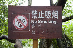 Tourist attraction symbol. No smoking Royalty Free Stock Images