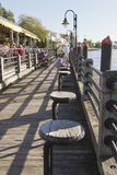 Tourist Attraction Water Street Boardwalk in Wilminton, NC Royalty Free Stock Image