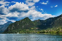 Free Tourist Attraction With Beatiful View Of Lake Of Idro In North Of Italy Stock Image - 154729791