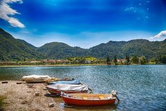 Free Tourist Attraction With Beatiful View Of Lake Of Idro In North Of Italy Royalty Free Stock Image - 160148286
