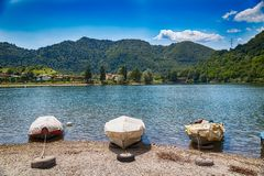 Free Tourist Attraction With Beatiful View Of Lake Of Idro In North Of Italy Stock Images - 160148684
