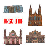 Tourist attractions of Argentina Royalty Free Stock Photo