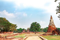 Tourist attractions, beautiful old cities of Thailand, Ayutthaya. Period For hundreds of years stock images