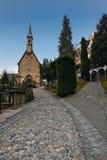 Tourist attractions on the old Salzburg Cemetery, Austria Stock Photos