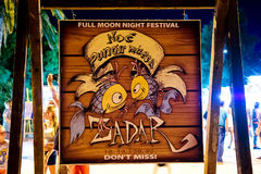 Tourist attractions in the summer nights in Zadar. Poster for full moon night festival. Royalty Free Stock Images