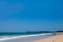 Tourist auf dem Strand Lizenzfreie Stockfotografie