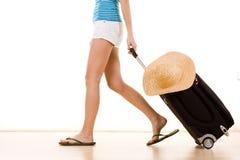 Tourist auf Ferien Stockbild