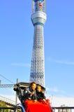 Tourist auf Rikscha Lizenzfreie Stockbilder