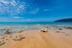 Tourist auf Tioman-Insel Malaysia Lizenzfreie Stockfotografie