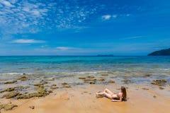 Tourist auf Tioman-Insel Malaysia Lizenzfreie Stockfotos