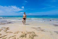 Tourist auf Tioman-Insel Malaysia Lizenzfreie Stockbilder