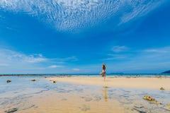 Tourist auf Tioman-Insel Malaysia Stockfotos