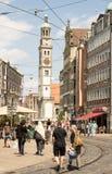 Tourist in Augsburg city Stock Image