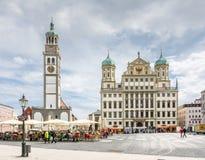 Tourist in Augsburg Stock Photos