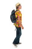 Tourist with backpack Stock Photo