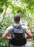 Tourist with backpack. Stock Photography