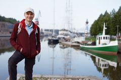 Tourist in Turku, Finland Stock Photography