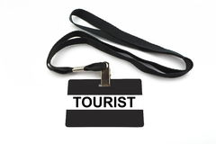 Tourist badge isolated on white background Stock Photography