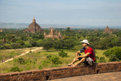 Tourist in Bagan Royalty Free Stock Images
