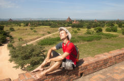 Tourist in the Bagan Royalty Free Stock Photos
