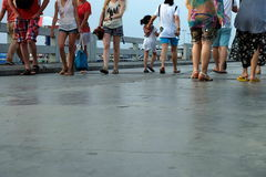 The tourist. At Bali Hai Pier Pattaya Stock Photo