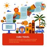 Tourist banner of Cuban culture Stock Photo