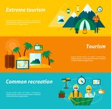 Tourist Banner Set Stock Image