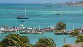 Tourist beach attraction, Aruba stock video