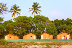 Tourist beach huts Royalty Free Stock Photography