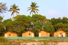 Tourist beach huts. At Arambol Beach in Goa India Royalty Free Stock Photography