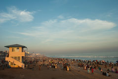 Tourist at Beach Royalty Free Stock Image