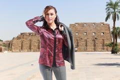 Tourist bei Luxor - Ägypten stockfoto
