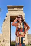 Tourist bei Luxor - Ägypten stockfotos