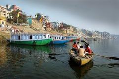 Tourist beim Benaras Lizenzfreie Stockfotografie