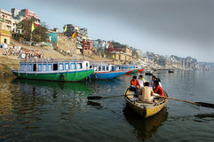 Tourist at the Benaras Royalty Free Stock Photography