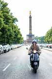 Tourist in Berlin riding scooter Stock Photography