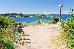 Tourist bicycles  in Brittany Royalty Free Stock Images