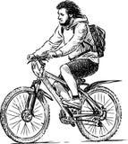 Tourist bicyclist Royalty Free Stock Photos