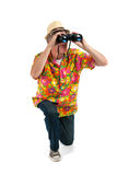 Tourist with binocular Stock Photos