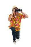 Tourist with binocular Stock Photos